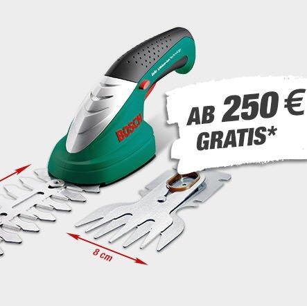 """Akku-Strauch-/Grasschere """"Bosch ISIO Revival"""" gratis bei Toom ab 250€ Einkaufswert"""