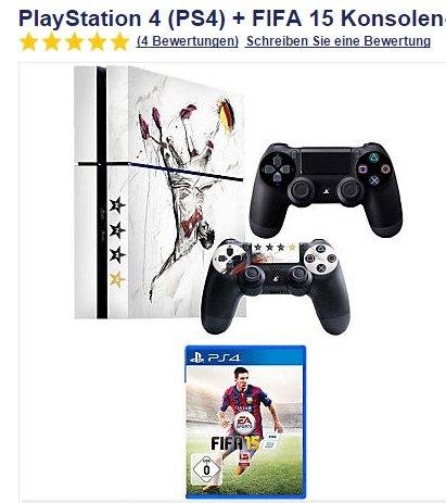 Playstation 4 - WM Edition - 2. Kontroller - 3 Jahre Garantie