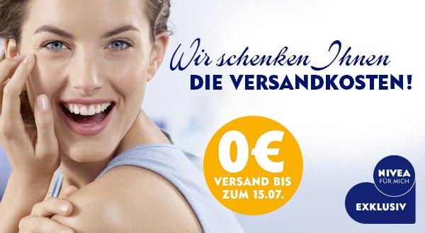 Nivea.de versandkostenfrei (statt 3,49) bis 15.07.15