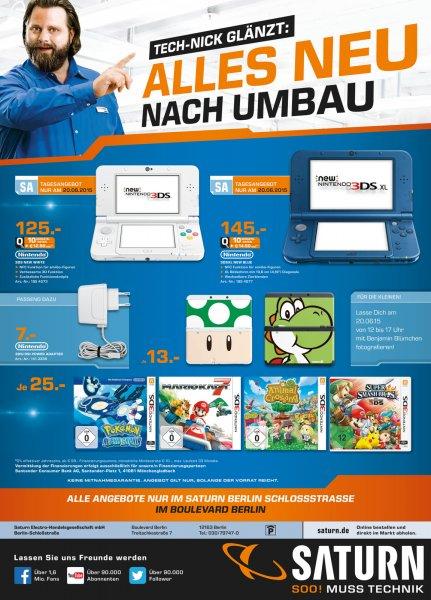 [lokal Saturn Berlin-Steglitz] New Nintendo 3DS für 125€ bzw. XL für 145€ sowie ausgewählte Spiele für 25€