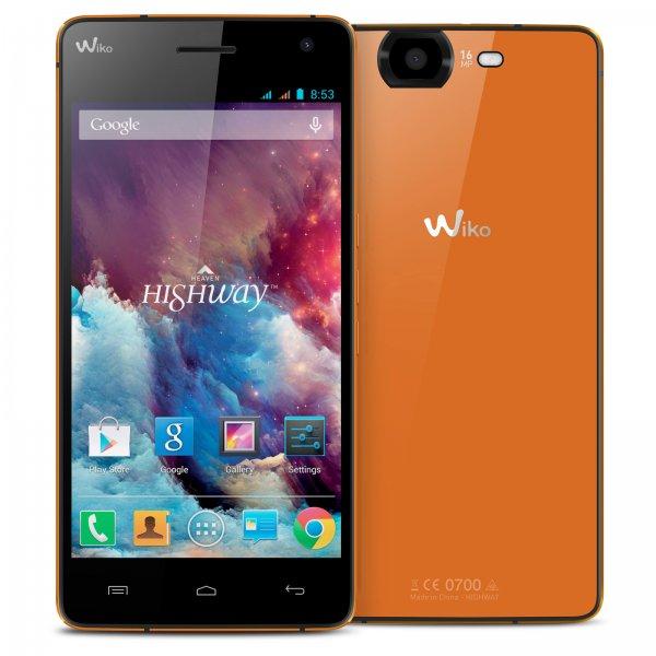 "Wiko Highway Smartphone 4G  (5"", FHD, 2GHz Quad-Core, LTE, 16 MP Kamera, 8 MP Frontkamera, 16GB, 2GB RAM) für 219,92 € @Amazon.fr"
