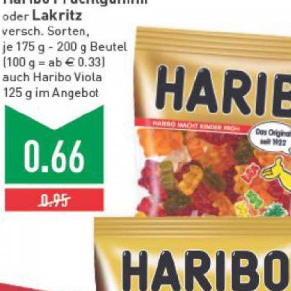 Haribo Fruchtgummi oder Lakritz verschiedene Sorten für 0,66 € | Marktkauf Bielefeld