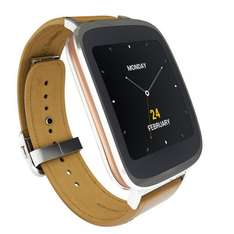 "[Amazon.fr] Asus ZenWatch (1,63"" AMOLED Touch, Snapdragon 400 Quadcore, 512 MB RAM, 4 GB ROM, Lederarmband, Android Wear) für 194€"