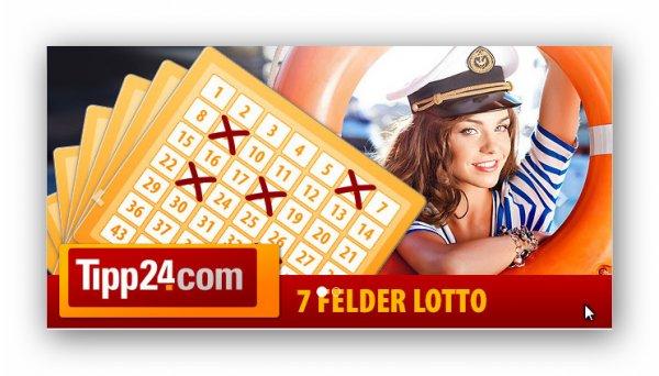 Tipp24 Lottoschein mit 7 Feldern (Wert 7,50 €) für 2,50 bei Dailydeal