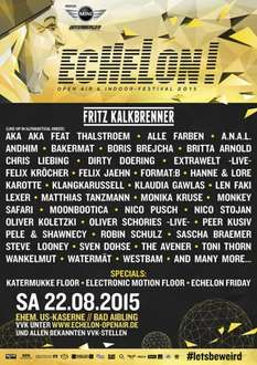 [Festival-Deal]Echelon Festival , 2-für-1 Tickets !