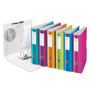 Esselte Leitz Qualitäts-Ordner Active WOW, A4, Polyfoam, breit, sortiert