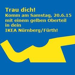 [Nürnberg/Fürth] 5€ IKEA Gutschein am 20.06.2015 von 9.30 bis 13 Uhr