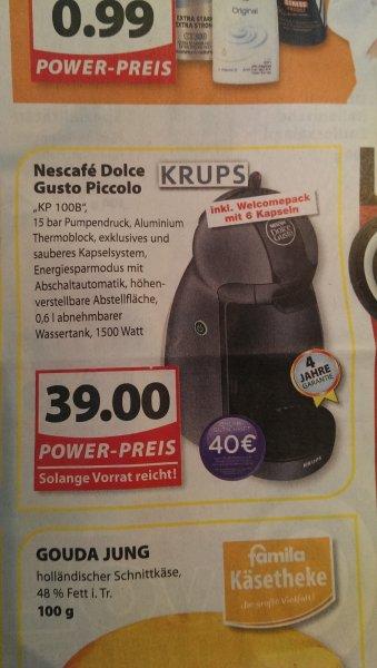 KRUPS KP 100 B Piccolo Kapselmaschine + 40€ Kapsel-Gutschein für 39€ Famila-Nordwest