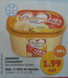 Penny: Langnese Cremissimo 1500 ml Becher für 1,99 ab 22.06.
