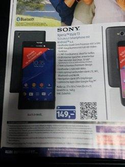 Aldi Süd ab 29.06. Sony Xperia Style T3 (schwarz oder weiß)