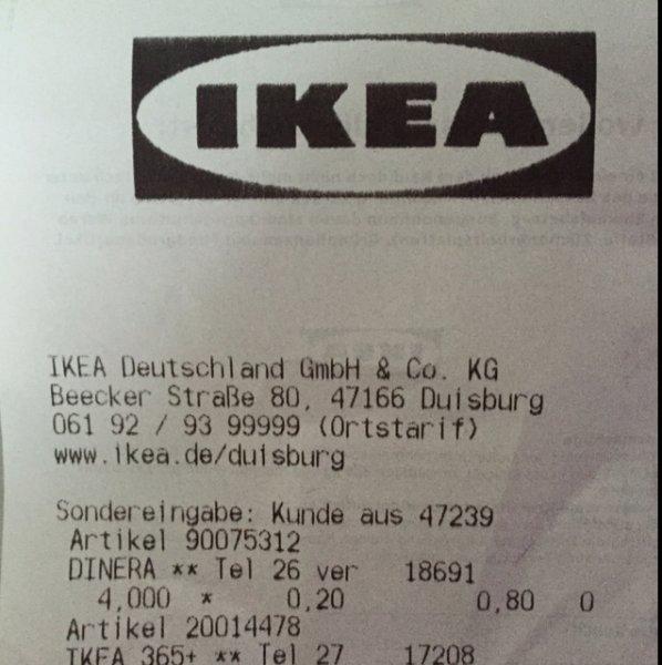 26cm Teller DINERA für 0,20€ statt 2,99€ [Lokal] IKEA Duisburg