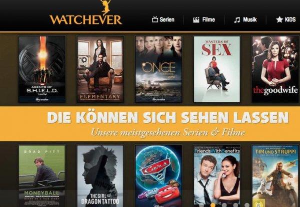 Watchever:  3 x Monate für nur  8,97 €