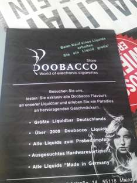 (Mainz lokal) Doobacco - Neueröffnung für elektronische Zigaretten - Bei Kauf eines Liquid eines gratis bei Kauf