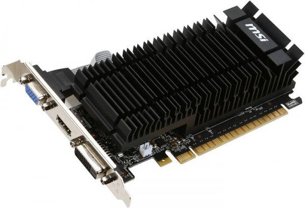 Stromspar-Grafikkarte - passiv gekühlt - MSI GeForce GT 720 2GB - 43,85€