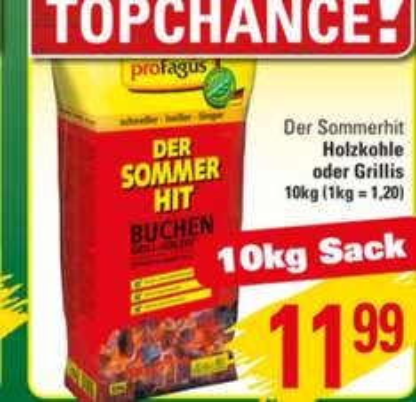 "Pro Fagus ""Der Sommerhit"" 10 kg Sack Holzkohle oder Grillis | Marktkauf Herford"