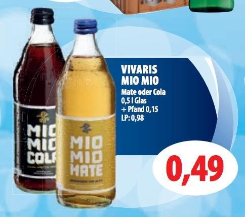 (Lokal Berlin - Brandenburg) Mio Mio Mate und Mio Mio Cola für 0,49€