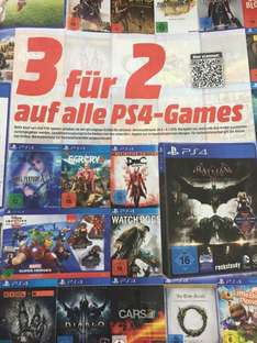 [Media Markt National ] 3 für 2 Aktion für alle PS4 Games am 24.6.2015 bis 4.7.2015