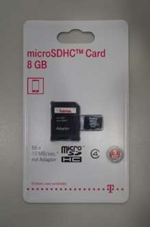 HAMA Micro SDHC Card 8GB mit Adapter @ebay 2,99€