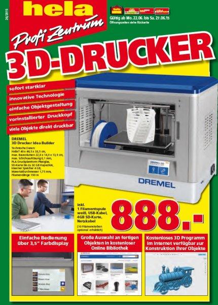 Dremel 3D Drucker für 781,44€ (PVG: 995€)über TPG@Bauhaus