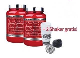 2 x 100% Whey Professional (gesamt: 4,7 kg) + 2x ON Shaker gratis VSK frei für €66,36 @vitafy