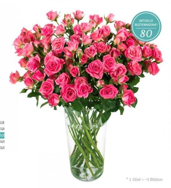 Miflora: rosa Blumenarrangement für 17,90€ (inkl. VSK) statt 29,95 €, je mehr Bestellungen, desto größer der Strauß