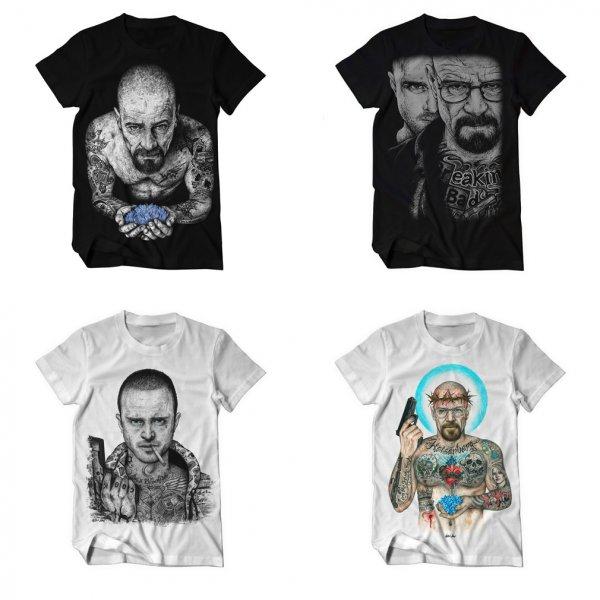 """4 Breaking Bad T-Shirts """"INKED IKONS"""" für 59€ / Sweatshirt + Shirt für 39€ / Versandkostenfrei! - kingofshirts.org"""