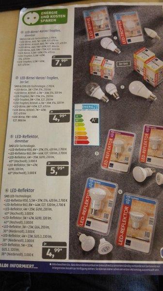 LED Leuchtmittel verschiedene Sorten, z.B. je 2er-Set 4,99€ ab 02.07 @ [ALDI SÜD]