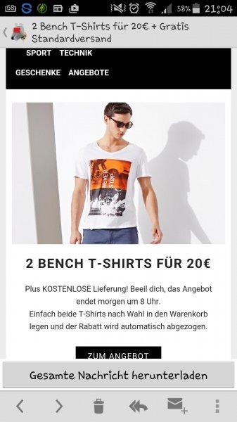 2 bench Shirts für 20 Euro