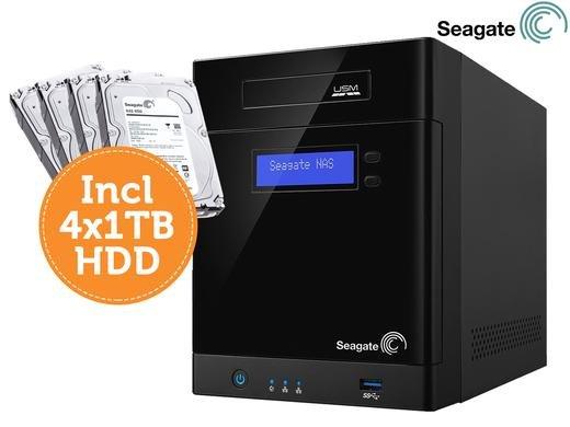 [Ibood] Seagate Business Storage STBP4000200 - NAS-Server - 4 TB - HDD 1 TB x 4, 1 - RAID 0, 1, 5, 10 - Gigabit Ethernet für 258,90€ inc Versand