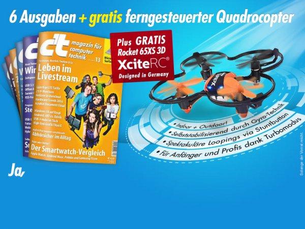 cx27t 6 Ausgaben + Quadrocopter Xcite Rocket 65XS 3D für 17,70€