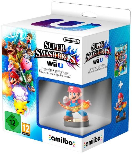"""[Amazon.fr] """"Super Smash Bros."""" für Wii U + Amiibo """"Super Mario"""" für 33,39€"""