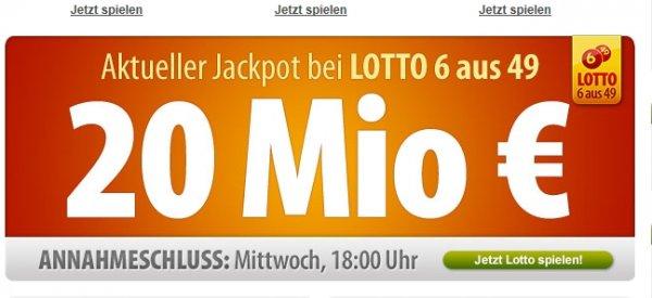 [Tipp24.com] Nur für Neukunden! 6 Reihen Lotto 6aus49 für 1,-€ anstatt 6,50€