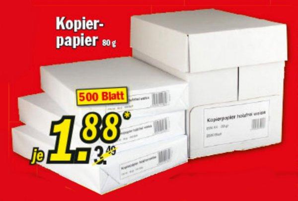 [ZIMMERMANN] KW27 Kopierpapier holzfrei (500 Blatt, 80g/m²) für 1,88 € (Angebot) [Gültig bis 04.07.2015]