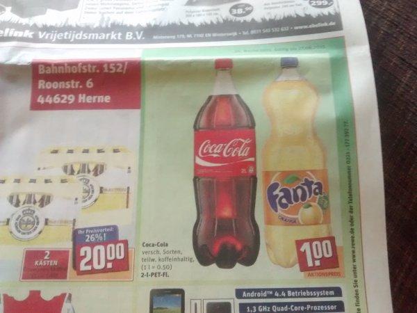 Coca Cola und Fanta 2l Herne toom Markt