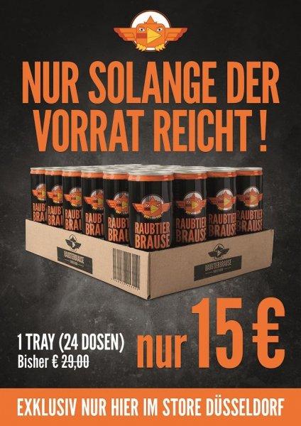 24 Dosen Energydrink Raubtierbrause 15€ statt 29€ (Düsseldorf)
