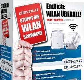Devolo dLAN 500 WIFI Starter Kit - stoppt die WLAN Schwäche - bei Comtech für 59,90 incl. VSK