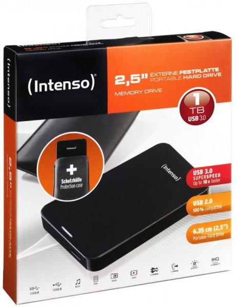 Intenso Memory Drive 1TB externe HDD Festplatte (USB 3.0, 2,5 Zoll) für 49,99€ inkl. Versand @  Ebay.de