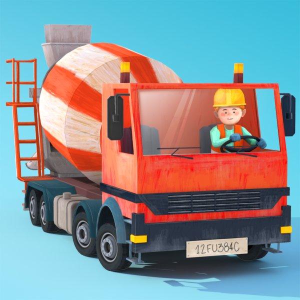 [ iOS / iPhone / iPad ] Kleine Bauarbeiter - Bagger, Laster und Kran für Kinder 0€ statt 2,99€