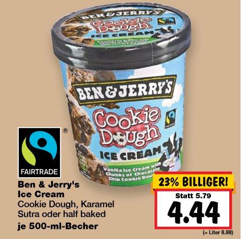 [KAUFLAND] KW27 Ben & Jerry's 3 Sorten für 4,44