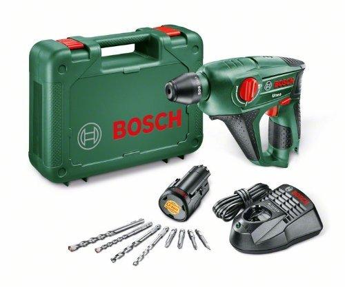 Bosch Uneo HomeSeries Akku-Bohrhammer + 2 Bohrer + 4 Bits + Akku und Ladegerät + Koffer (10,8 V, max. Bohr-Ø Beton 10 mm, 1,1 kg) für 103€ @Amazon.fr