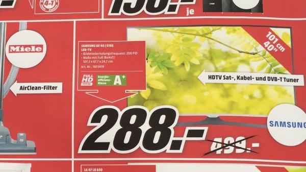 LOKAL HH - Mediamarkt - SAMSUNG UE 40 J5150 - 288,00 €