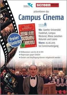 [Lokal Frankfurt] Grand Budapest Hotel Campus Cinema Goethe University Frankfurt Open-Air-Kino