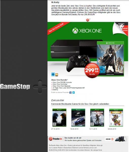 (Bundesweit Gamestop) XBOX ONE mit Destiny