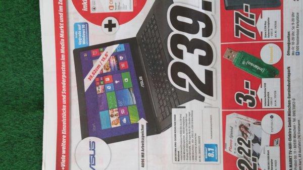 """Asus R515MA-BING-SX569B 15,6"""" N2840/4GB 500GB Notebook für 239€ idealo 299€ @ Media Markt München Euroindustriepark"""