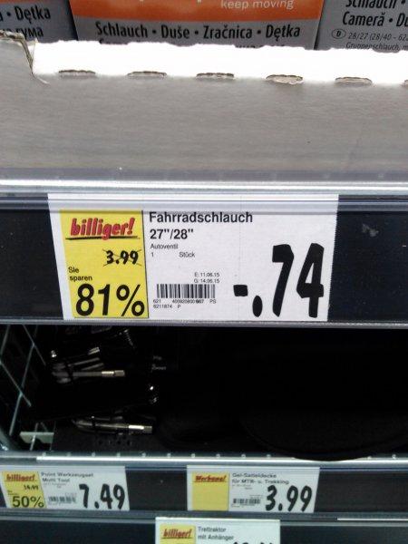 """[Lokal?] Kaufland Biedenkopf Fahrradschläuche 26"""" 28"""""""