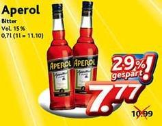 Dursty - Aperol 0,7L 7,77€ ab 01.07