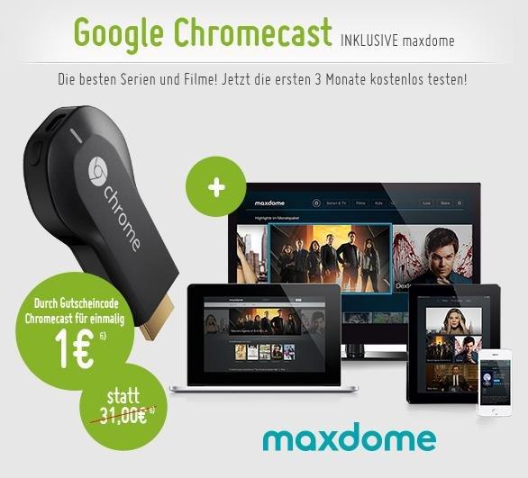 3 Monate Maxdome + Google Chromecast für 1€