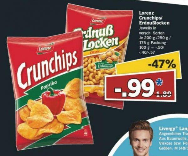 [Lidl/Offline] Lorenz Crunchips/Erdnußlocken für 0,99€ statt 1,89€ nur am 04.07.2015!
