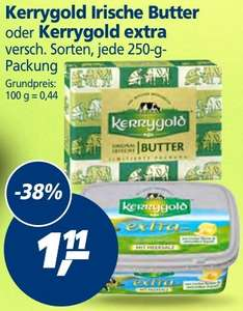 Kerrygold Irische Butter oder Kerrygold extra,  250g,  kw27 [real]