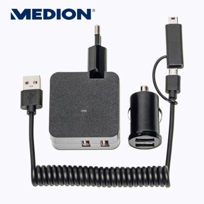 [Aldi-Nord] USB-Ladegerät mit Auto-Adapter und 2 Ausgänge mit insgesamt 2100mA (Medion Life E69386 MD 84922) für 5,99 €